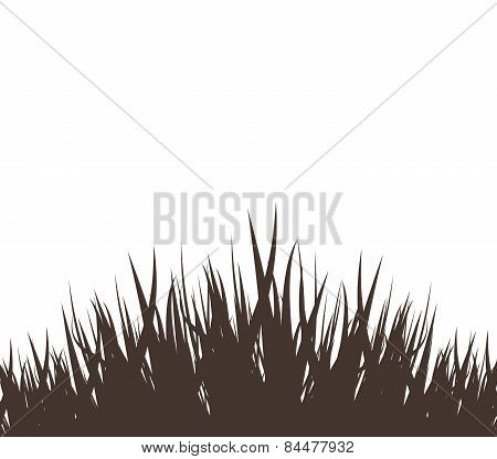grass vector silhouette black