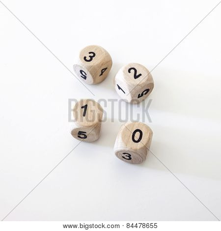 Dice Cube With Number Element Design