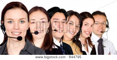 big customer service team