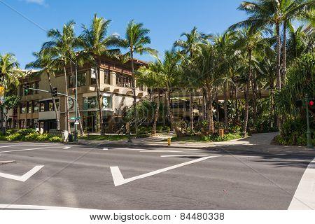 Kalakaua Avenue in Waikiki, Hawaii