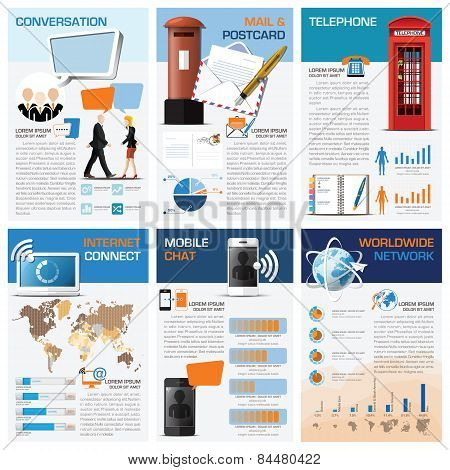 Communication And Connection Chart Diagram Infographic