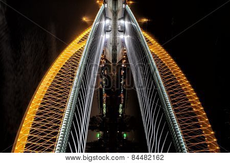 Troja Bridge In Prague As Illusion Of Skyscrapper