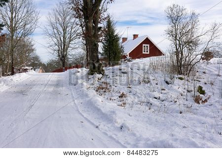 Swedish landscape in winter