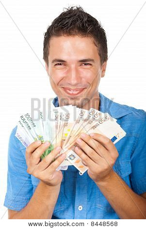 Laughing Man Won Money