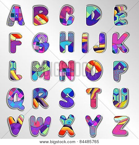 Design Elements. Vector Illustration Of Colorful Abstract Letters.