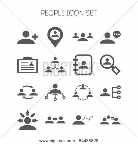 Set of simple icons for business, corporation, web design and application
