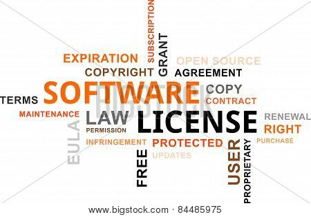 word cloud - software license