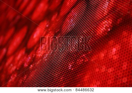 Led Screen Picture Red Snake