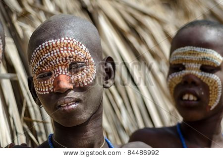 Portrait Of Unidentified Boy From Arbore Tribe, Ethiopia