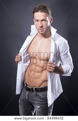 handsome young bodybuilder