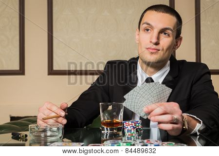 Poker player.