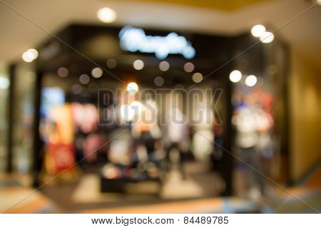 Defocused Blur Store Bokeh