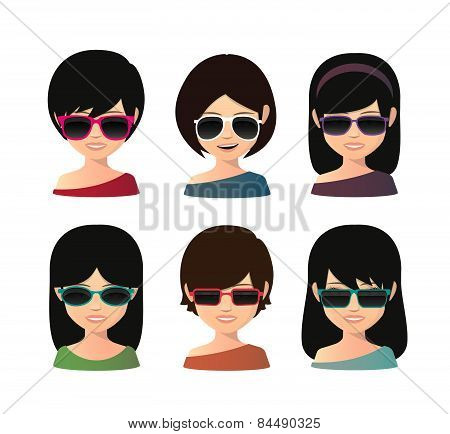 Female Asian Avatar Wearing Sunglasses