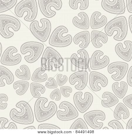 Vector Seamless Pattern. Black And White Abstract Background.