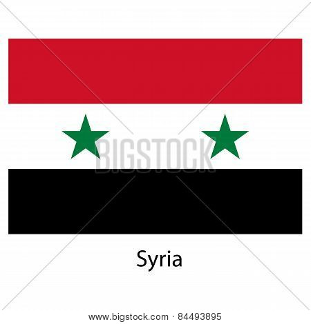 Flag  Of The Country  Syria. Vector Illustration.