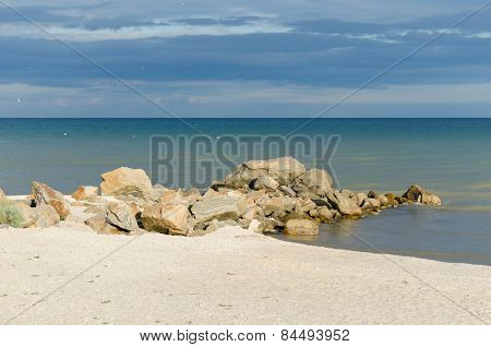 Edge of the bank of the sea of Azov