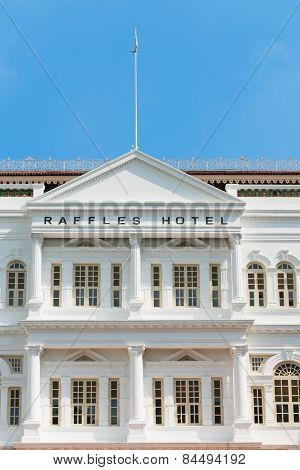 The Raffles Hotel In Singapore.