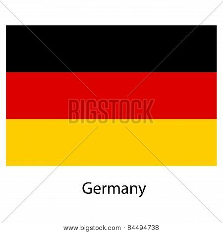 Flag  Of The Country  Germany. Vector Illustration.