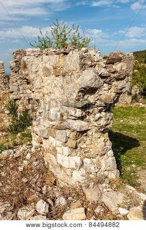 The High Fortress Walls, Stari Bar, Montenegro.