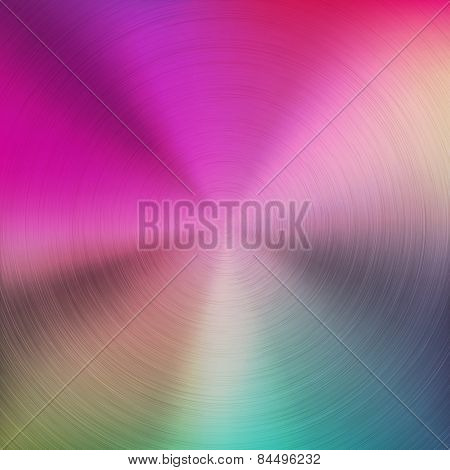 Abstract Colorful Gradient Background With Metal Texture