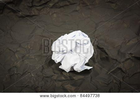 Black Paper Ball Corrugate Isolate