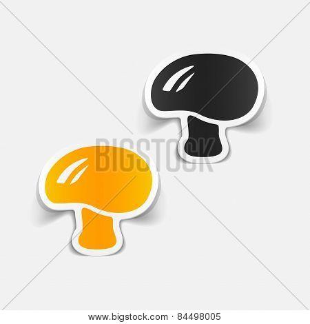 realistic design element. mushroom