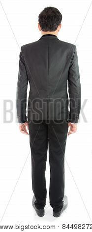 Businessman Standing With Back Isolate