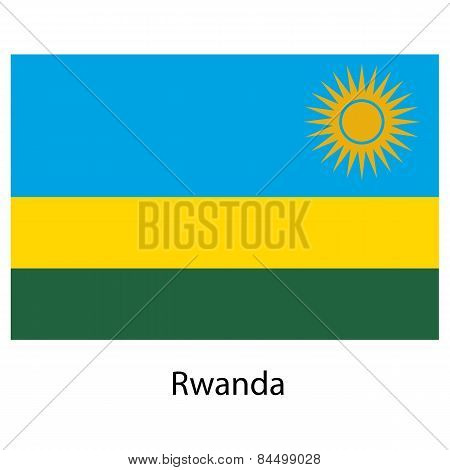 Flag  Of The Country  Rwanda. Vector Illustration.