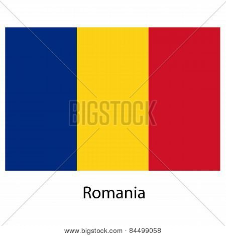 Flag  Of The Country  Romania. Vector Illustration.
