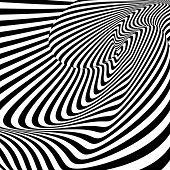 pic of distort  - Design monochrome whirl motion illusion background - JPG