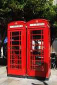 pic of gibraltar  - British telephone boxes in the town centre Gibraltar United Kingdom Western Europe - JPG
