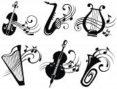 image of music symbol  - Musical symbols for your design - JPG