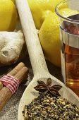 stock photo of zingiber  - photo of fresh juicy spicy ginger root  - JPG