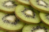 image of villi  - Sliced ripe and juicy KIWI green color - JPG