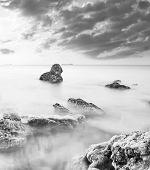 stock photo of crimea  - sea coast in Crimea - JPG