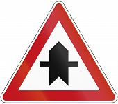 picture of intersection  - German traffic sign - JPG