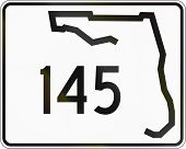 image of state shapes  - US state highway shield Florida - JPG
