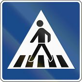 stock photo of pedestrian crossing  - German traffic sign - JPG