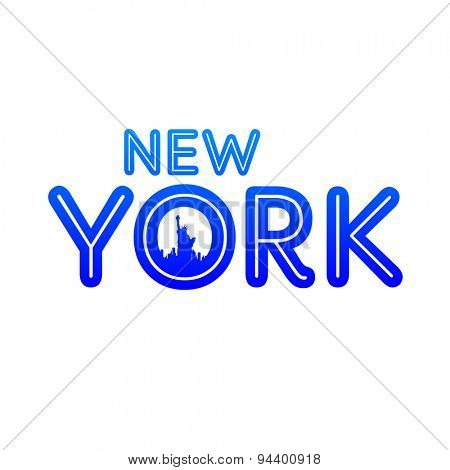 New York city skyline silhouette. Template for design.