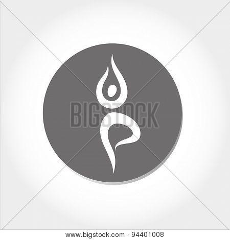 yoga icon - template for design