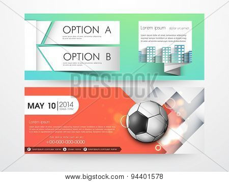 Stylish professional website header or banner set for sports.