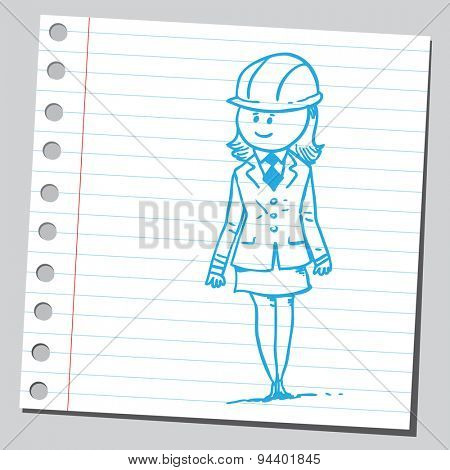 Businesswoman with hard hat