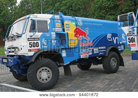 Moscow, Russia - July 11: Kamaz Master Driver Eduard Nikolaev In Moscow City Racing Circle, Moscow O