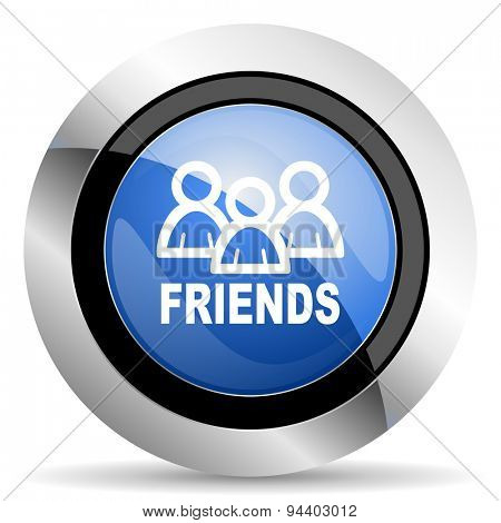friends icon  original modern design for web and mobile app on white background