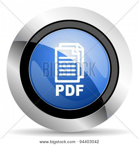 pdf icon pdf file sign original modern design for web and mobile app on white background