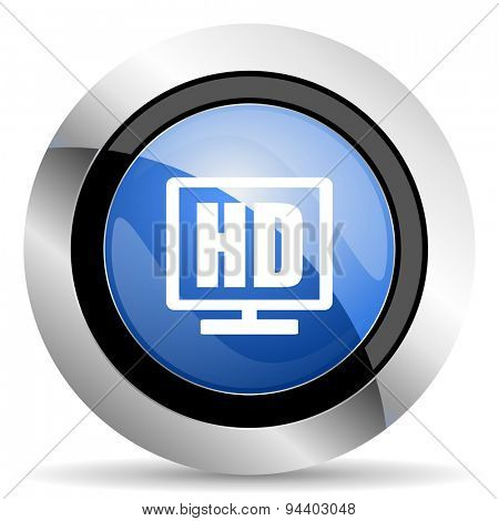 hd display icon  original modern design for web and mobile app on white background