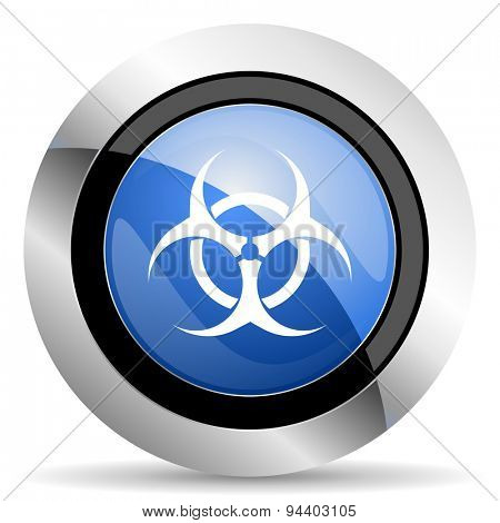 biohazard icon virus sign original modern design for web and mobile app on white background