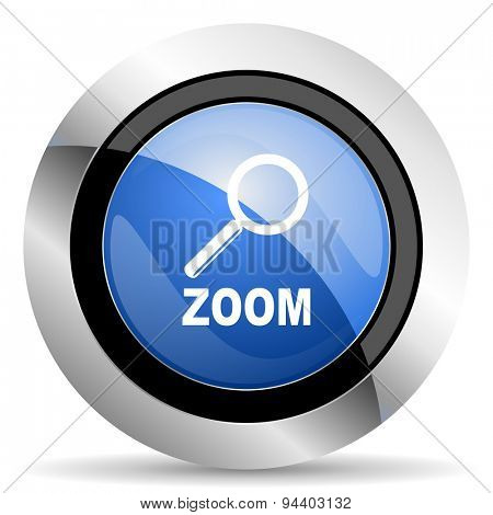zoom icon  original modern design for web and mobile app on white background