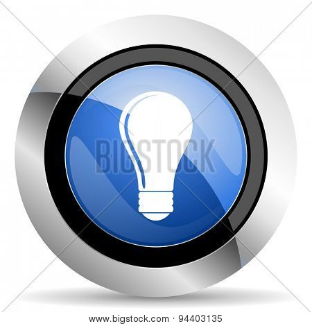bulb icon idea sign original modern design for web and mobile app on white background