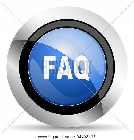 faq icon  original modern design for web and mobile app on white background